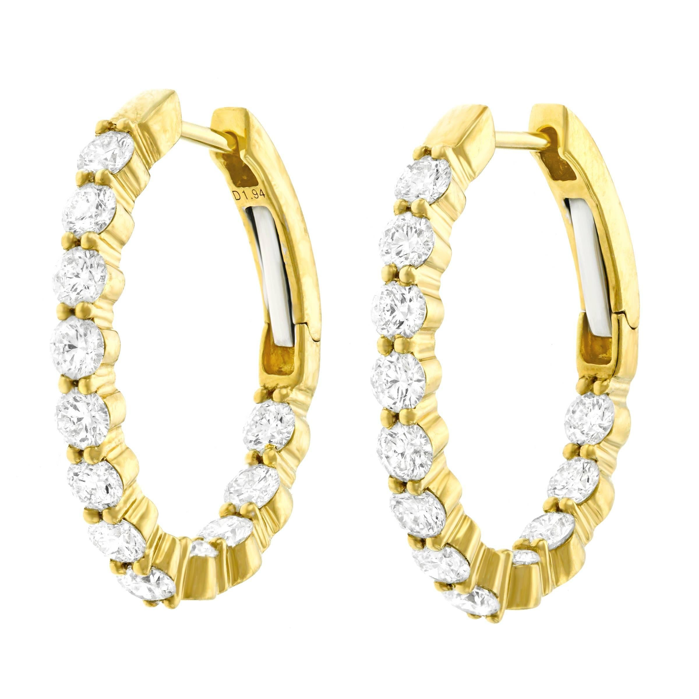 yossi jewelry harari hoop bargen product gold diamond earrings jane von s