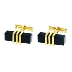 1950s Onyx and Gold Cufflinks