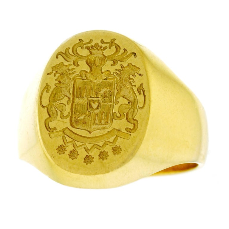 Grams Ct Gold Oval Sygnit Ring