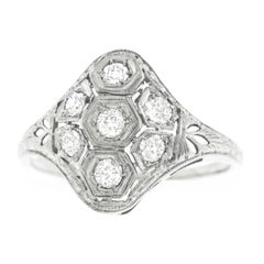 Art Deco Diamond Set Gold Ring
