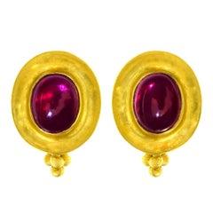 Maija Neimanis Garnet Set Gold Earrings