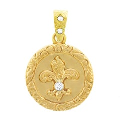 Antique Fleur-de-Lis Gold Locket