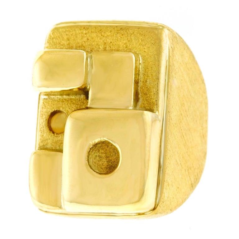 1970s Modernist Burle Marx Gold Ring