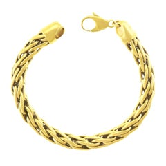 Handmade Russian Braid Gold Bracelet
