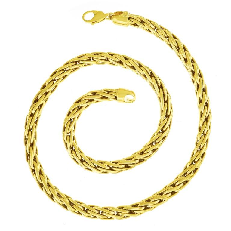 Handmade Russian Braid Gold Necklace
