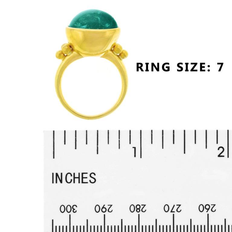 Maija Neimanis Blue Green Tourmaline Cabochon Ring For Sale 2