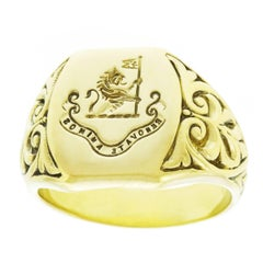 Tiffany & Co. Art Deco Gold Signet Ring