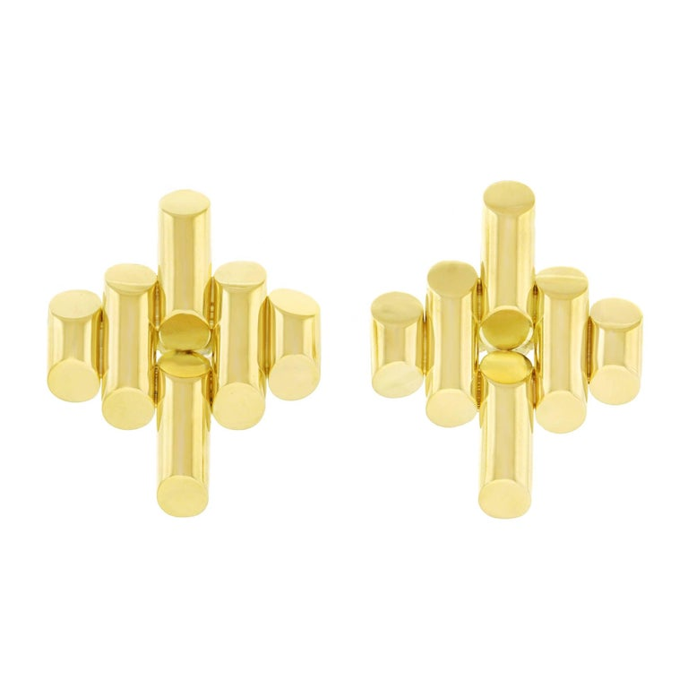 Tiffany and Co. Art Deco Gold Earrings For Sale