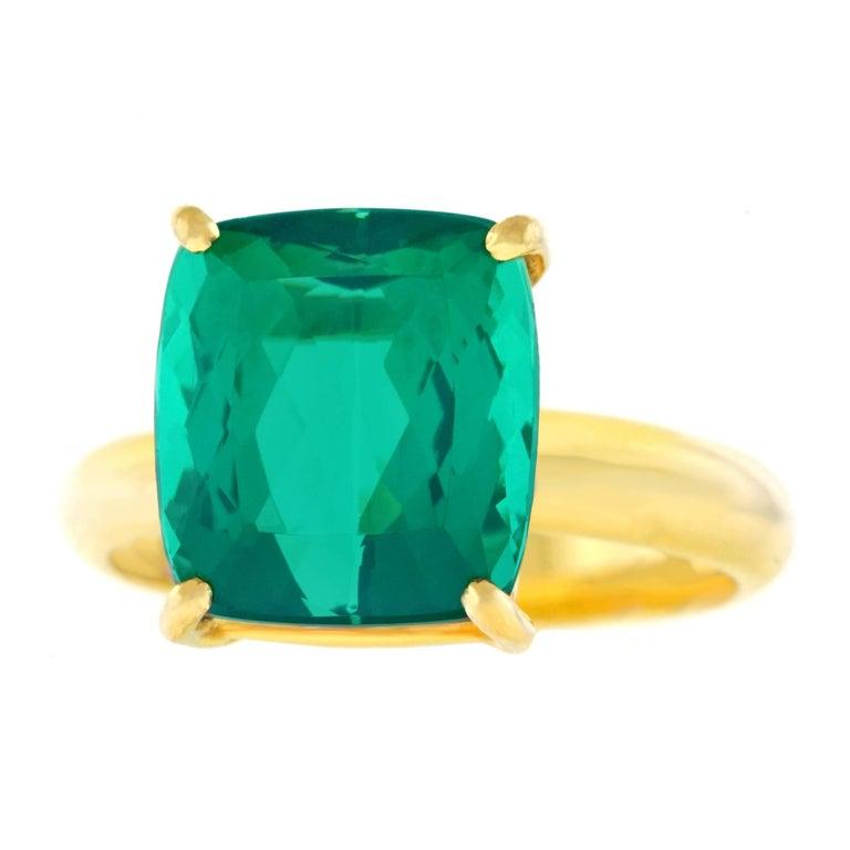 H. Stern Green Tourmaline Set Gold Ring