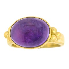 Maija Neimanis Amethyst Cabochon Gold Ring