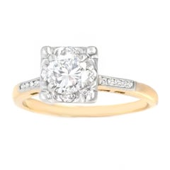 Art Deco Diamond Set Gold Engagement Ring