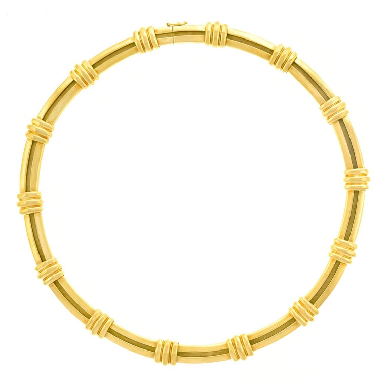 Tiffany & Co. Atlas Motif Gold Necklace