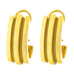 Tiffany & Co. Atlas Motif Gold Earrings