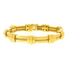 Tiffany & Co. Atlas Motif Gold Bracelet
