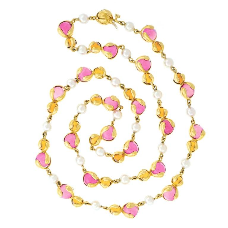 """Marina B. """"Cardan Perle"""" Gold Necklace"""