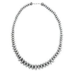 Navajo Sterling Silver Bead Necklace