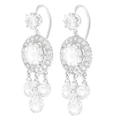 Fred Leighton Diamond Set Gold Chandelier Earrings