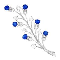 Tiffany & Co. Sapphire and Diamond Set Platinum Brooch