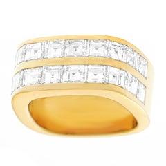 Trudel of Zurich Modernist Diamond Set Gold Ring