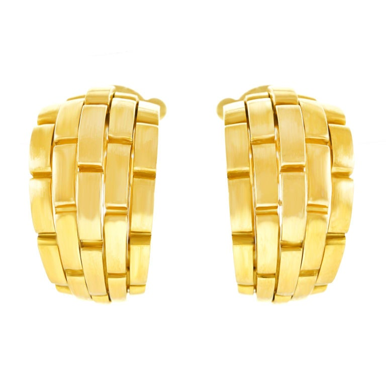 Cartier Maillon Panthere Earrings For Sale