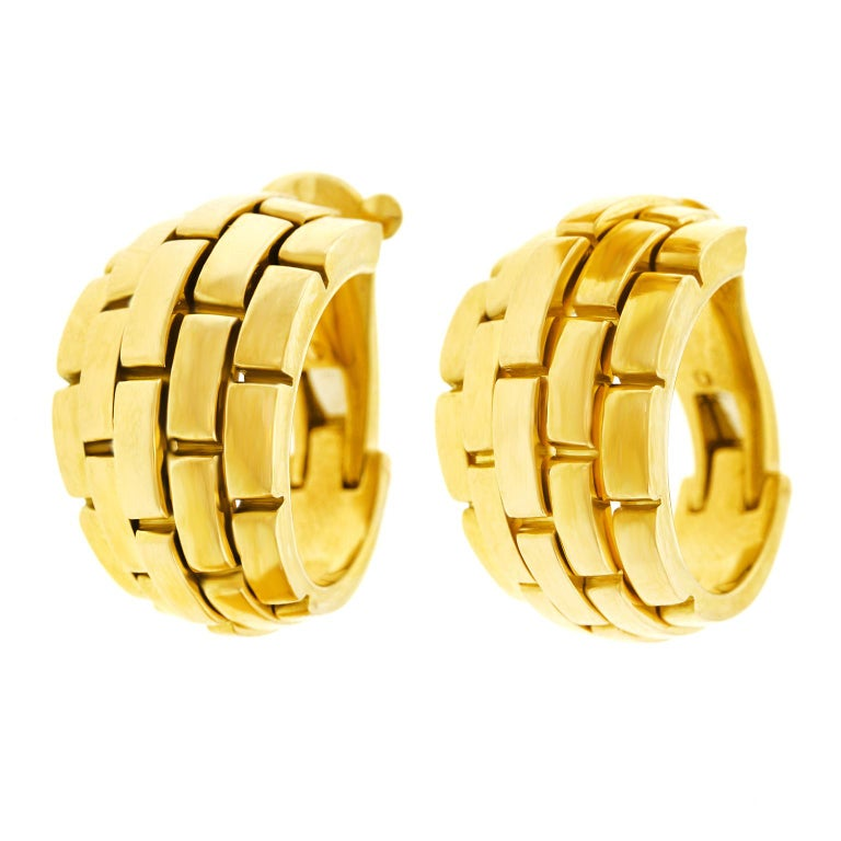 Cartier Maillon Panthere Earrings In Excellent Condition For Sale In Litchfield, CT