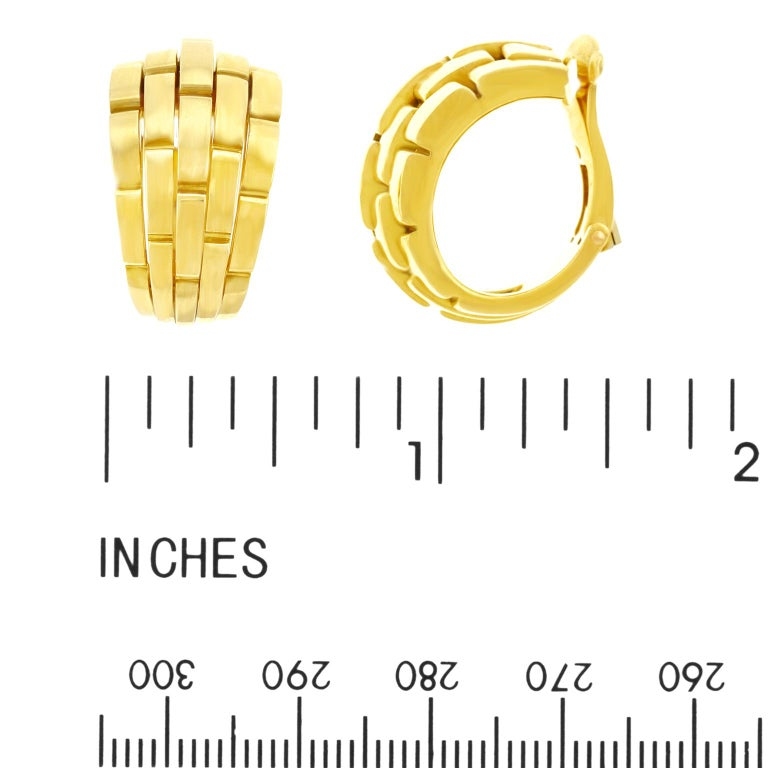 Cartier Maillon Panthere Earrings For Sale 2
