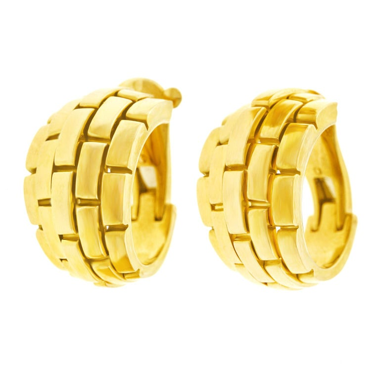 Cartier Maillon Panthere Earrings For Sale 5