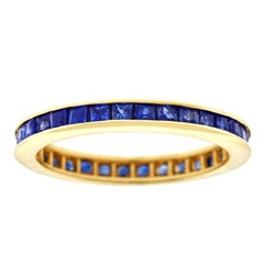 Sapphire Eternity Band Set in Gold