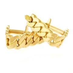 Scandinavian Modernist Gold Cufflinks