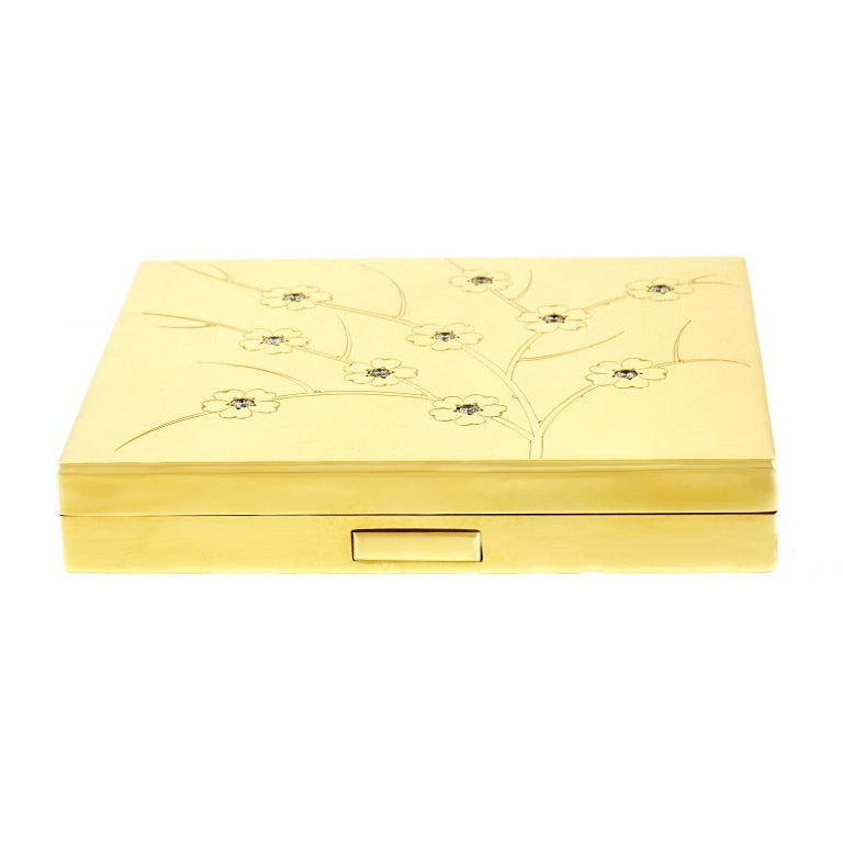 Tiffany & Co. Japanese Taste Gold Compact Case