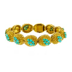 Persian Turquoise and Gold Bracelet
