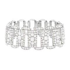 Art Deco 25 Carat Diamond Set Platinum Bracelet
