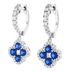 Spark Sapphire and Diamond Set Gold Earrings