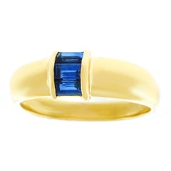 Tiffany & Co. Sapphire Set Gold Ring