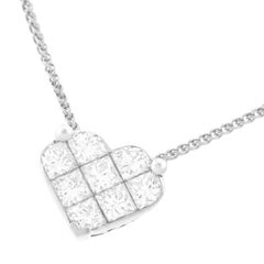Diamond Set White Gold Heart Pendant