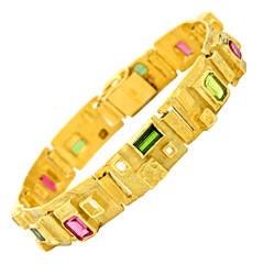 Ed Wiener Gem-Set Constructivist Bracelet