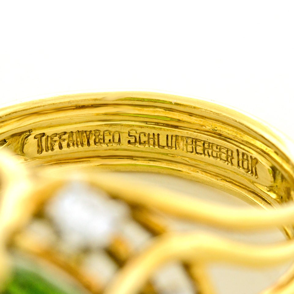 Jean Schlumberger for Tiffany & Co. Peridot Diamond Gold Ring 5
