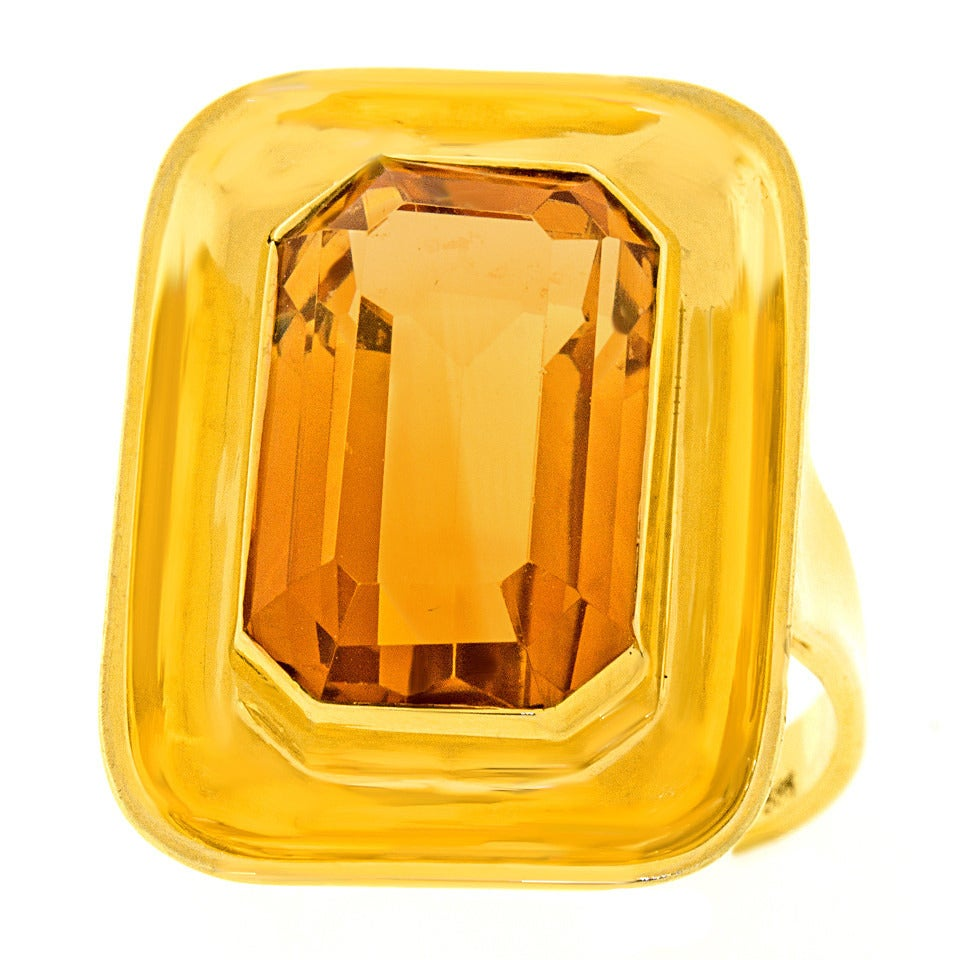 Values Of Citrine Cocktail Rings