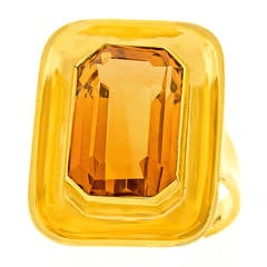 Modernist Citrine Gold Ring