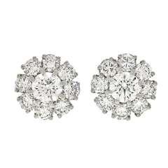 Lawrence Jeffrey 3.88cttw Diamond Fleurette Earrings