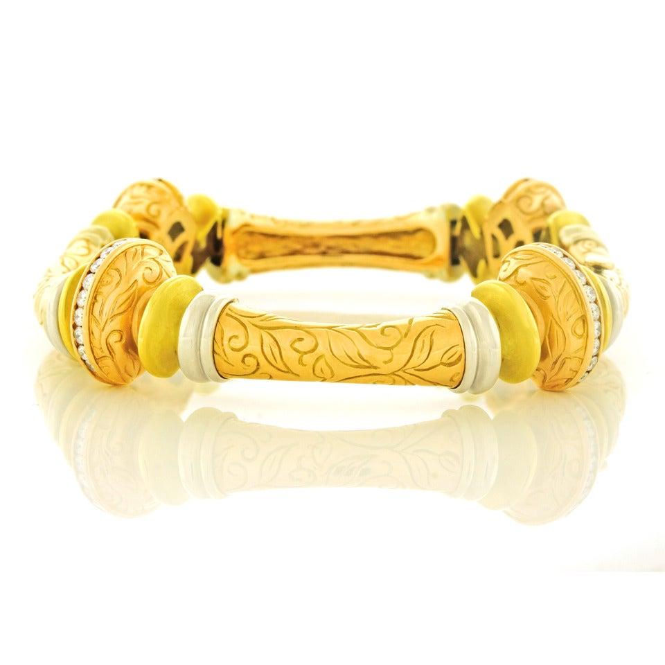 seidengang gold laurel collection bracelet at 1stdibs