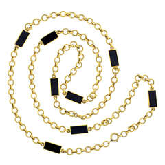 Van Cleef & Arpels Onyx Necklace