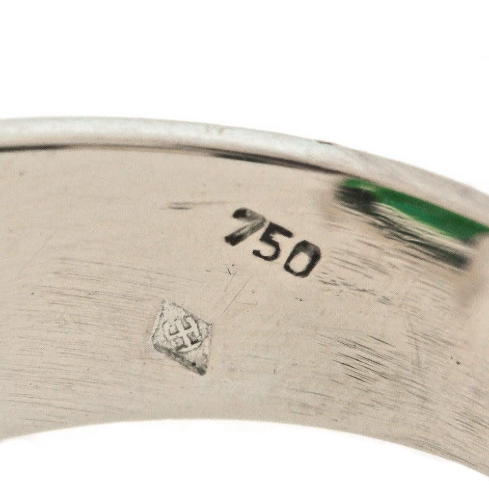 Modernist 25 Carat Tourmaline Diamond Gold Cocktail Ring For Sale 1