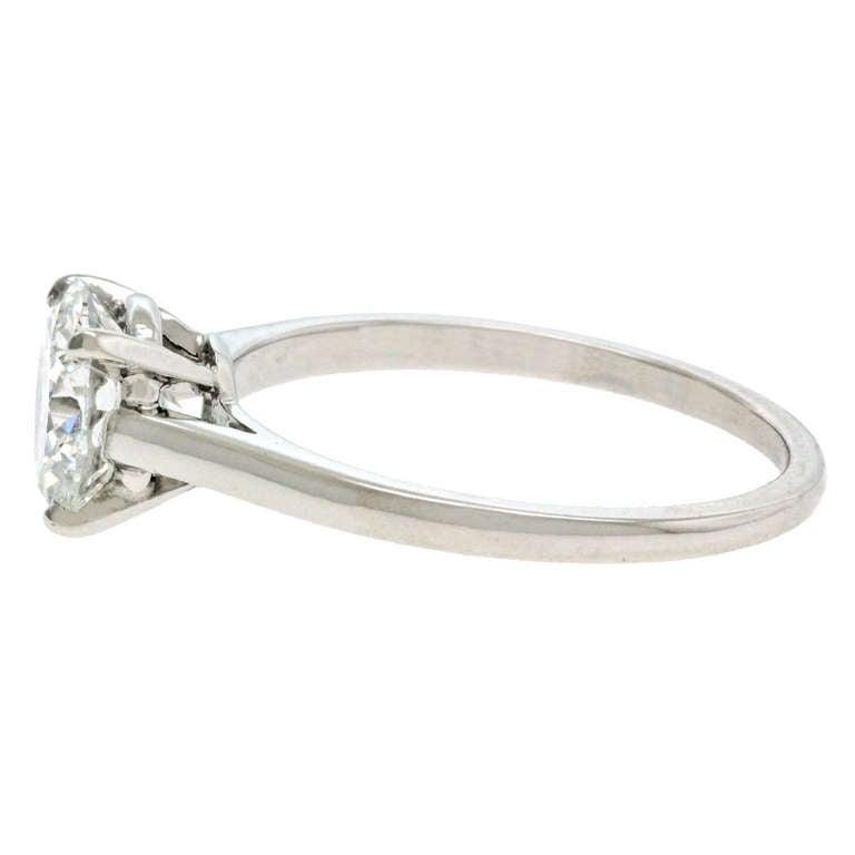 Cartier 1 58ct E VVS2 Diamond Engagement Ring Platinum GIA Cert at 1stdibs