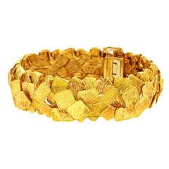 French Brutalist Modern Gold Bracelet