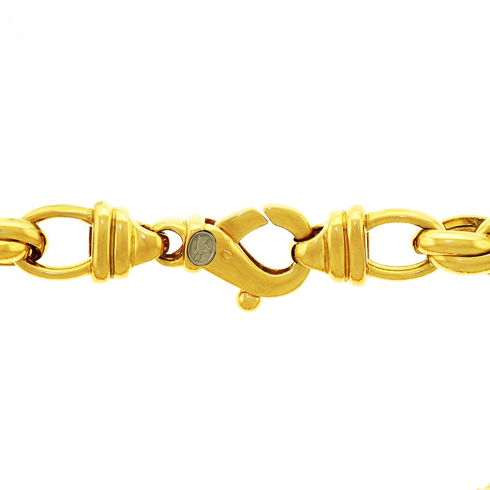 1980s Gay Freres Gold link Necklace 8
