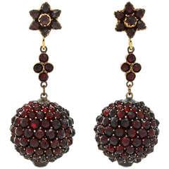 Extraordinary Bohemian Garnet Earrings