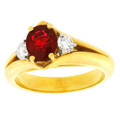 T. Foster & Co. Ruby Diamond Ring