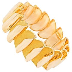Sixties French Modern Gold Bracelet