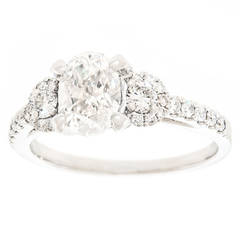 Simon G Diamond Platinum Engagement Ring in Platinum